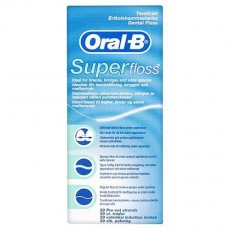 Oral B SuperFloss Super Dental Floss for Braces Bridges - 50 metres