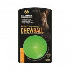 Starmark Treat Dispenser Chew Ball for Dogs, Large