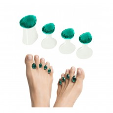 Dip Into Pretty Pedi Spacers - Turquoise-gem main