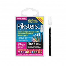 Piksters Interdental Brushes Size 7 Black 40 Pack