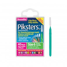 Picksters Interdental Brushes Size 6 Green 40 pack