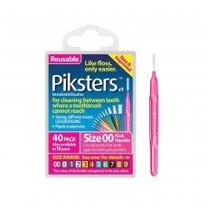 Piksters Interdental Brushes Size 2 White 40 Pack