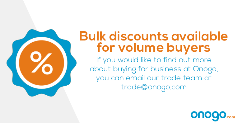 If you would like find out more about buying for business at Onogo, you can e-mail our trade team at trade@onogo.com
