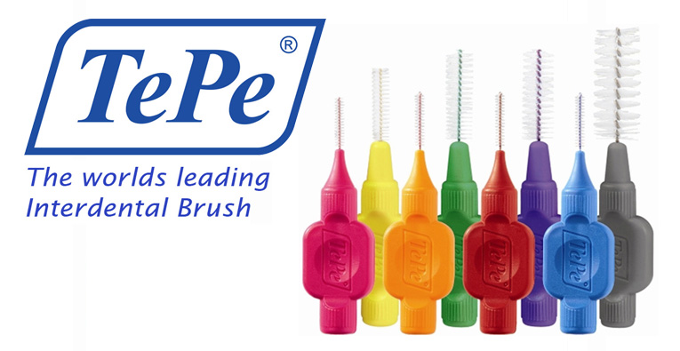 TePe Interdental Brushes - Keep your teeth clean and healthy with these brushes, available in 9 different colours and sizes